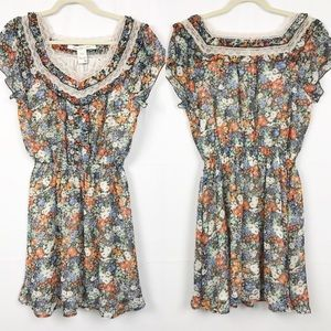 American Rag | Floral and Lace Dress | M